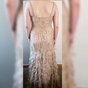 Silk beaded mermaid gown